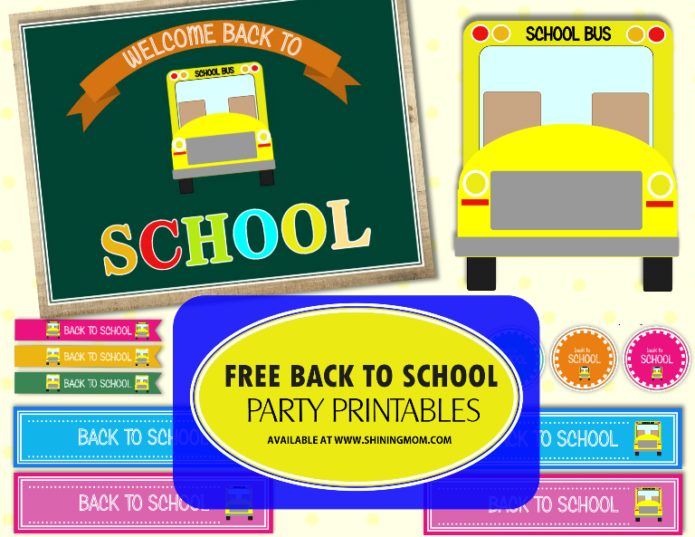 free back to school party printable