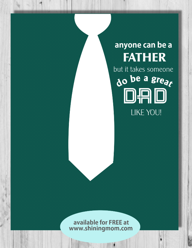 free father's day card formal