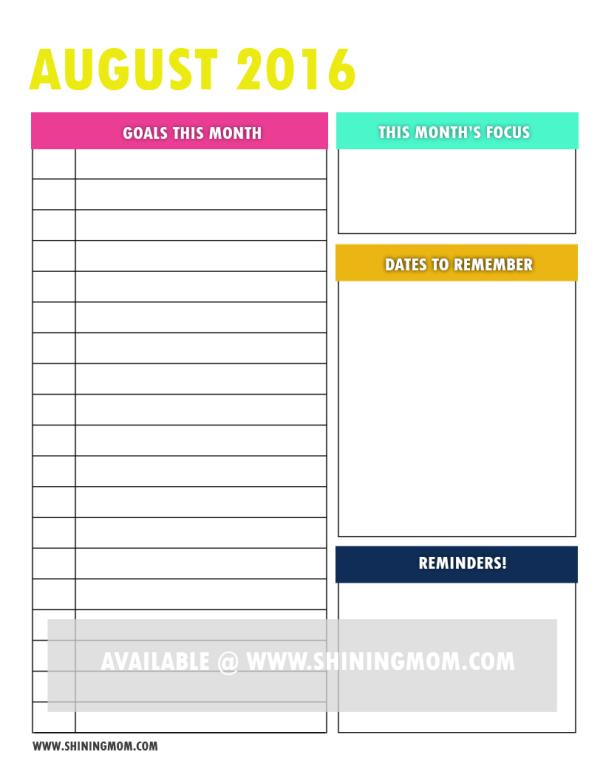 free printable goal setting page 3