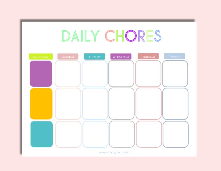 chore chart free