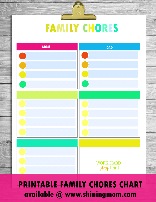 family chores template
