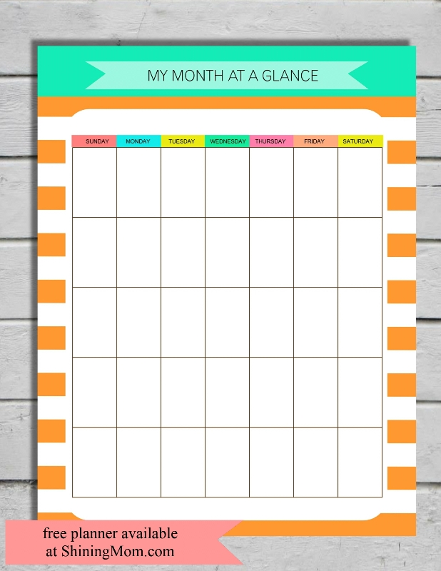 month-at-a-glance-printable