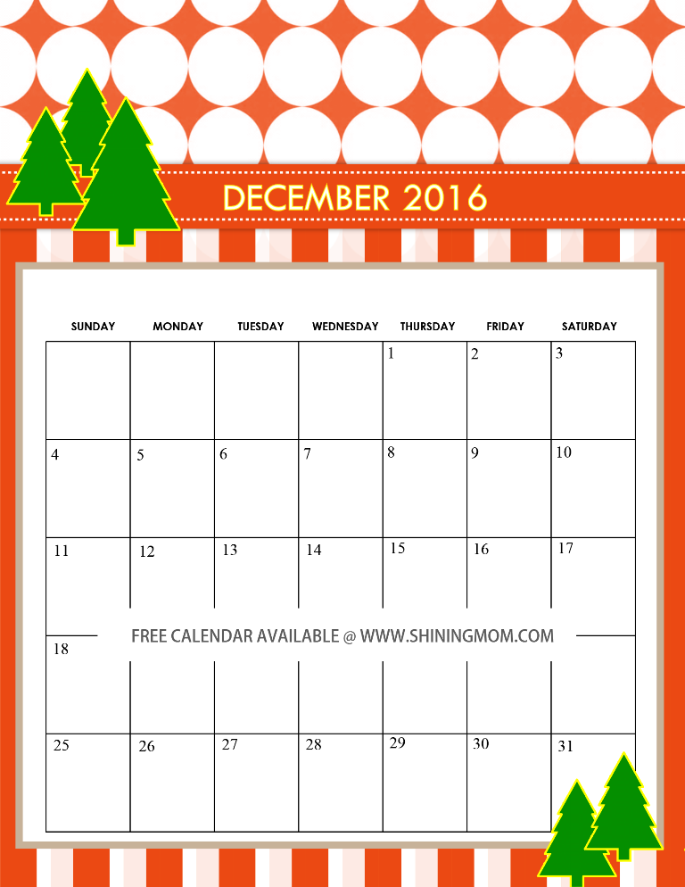 free-december-2016-calendar-cute