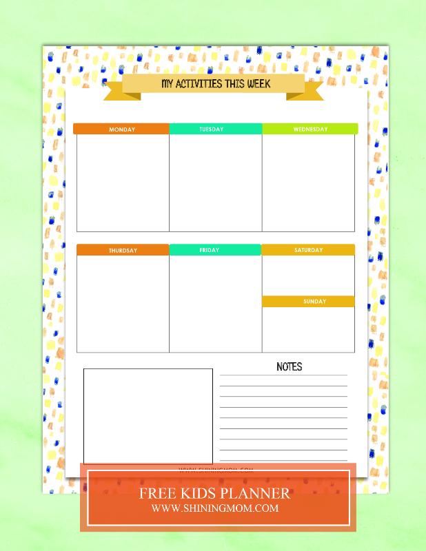 free-kids-planner-printable