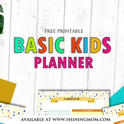 Free Printable Kids Planner : Cute and Colorful!