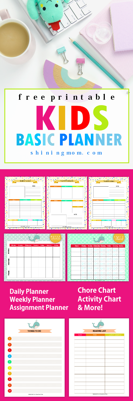 kids planner printable