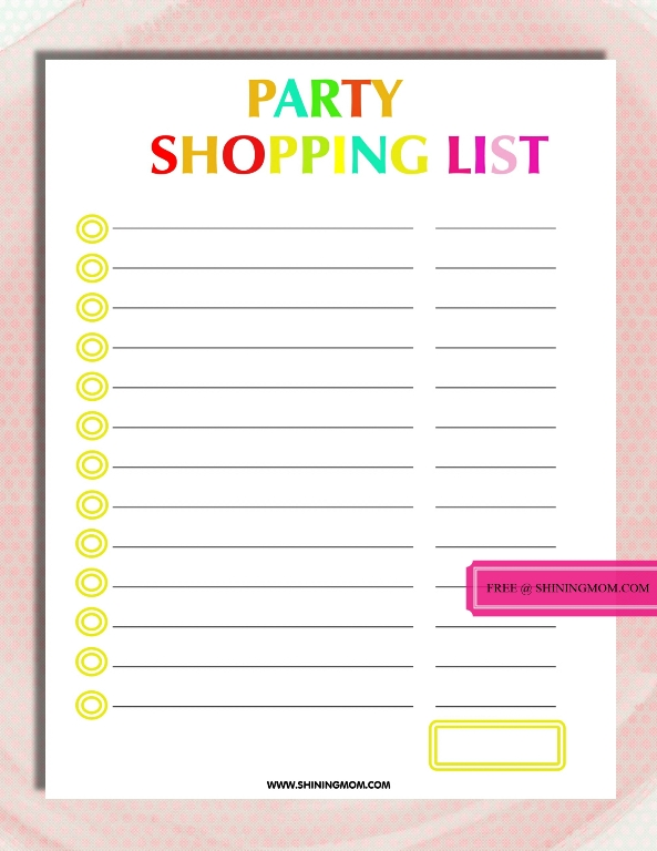 party-shopping-list