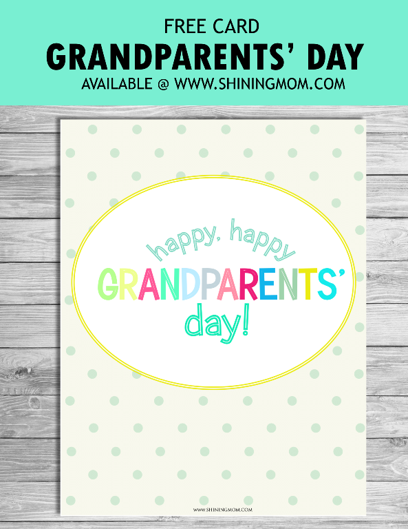 free grandaparents printable card