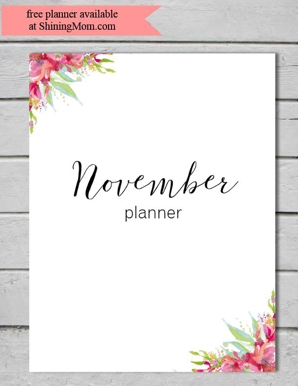 free-planner-november
