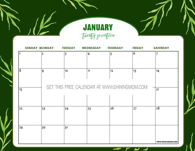 free-january-calendar-2017