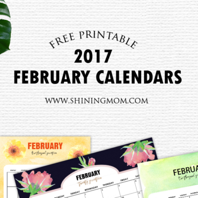 Pretty FREE Printable February 2017 Calendar {With Handmade Designs!}