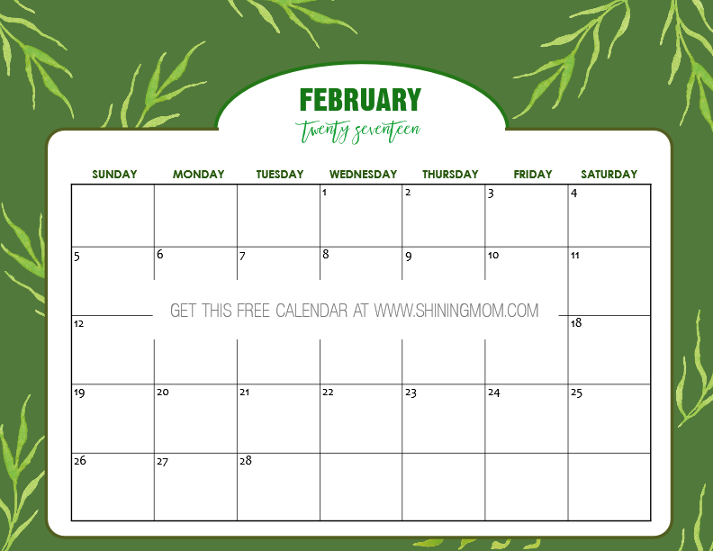 free-printable-february-2017-calendar-nature-inspired