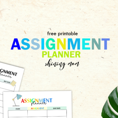 Printable Assignment Planner for Kids and Teens