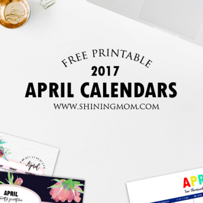 Pretty Free Printable Calendars for April 2017!