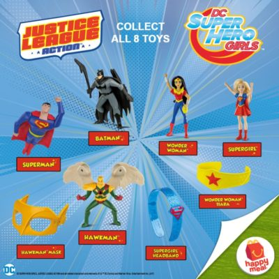Get Your Favorite Superhero Toys from McDonald's Happy Meal!