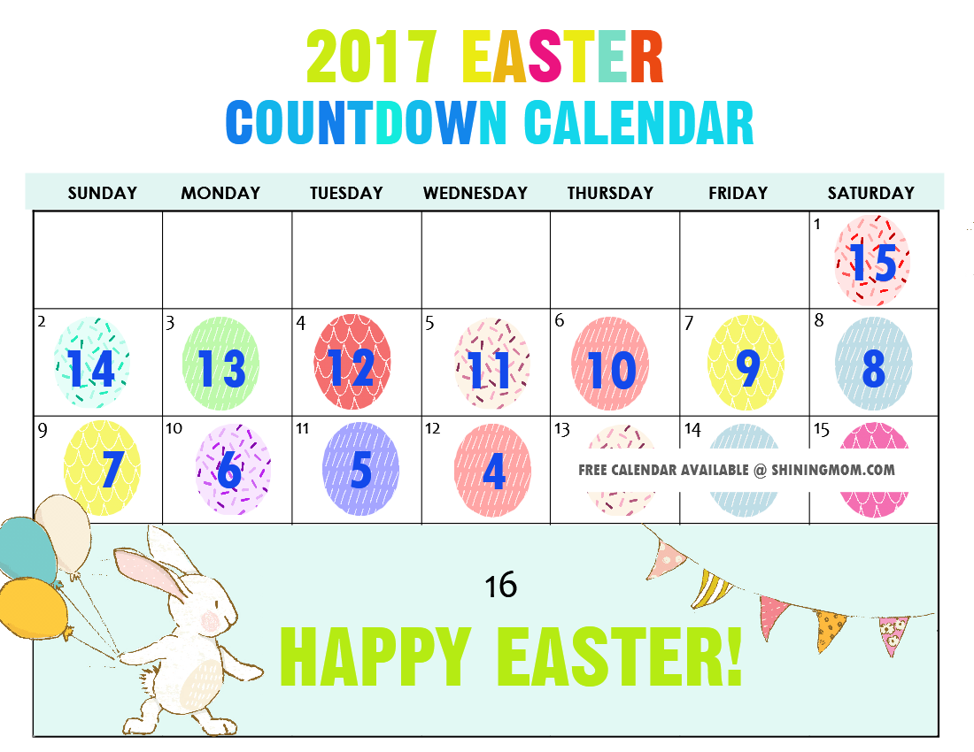 Easter countdown calendar 2017