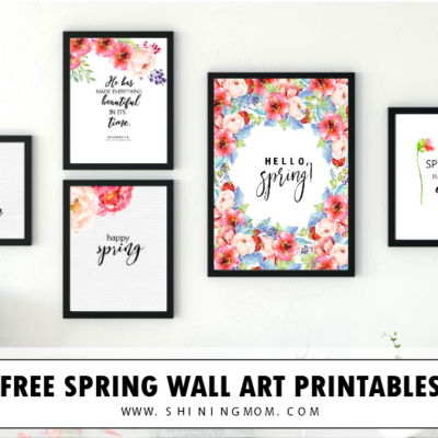 Free Spring Printables in Bold and Beautiful Florals