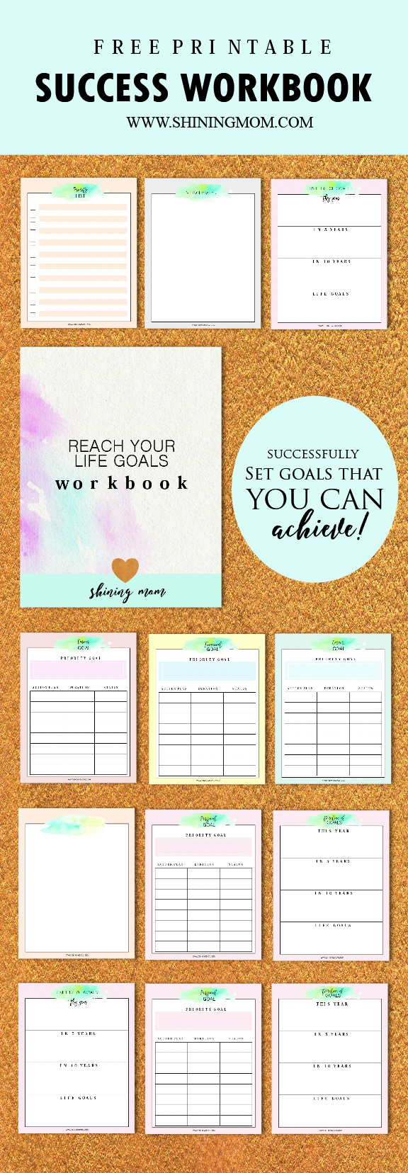 Success Workbook, goal setting worksheet