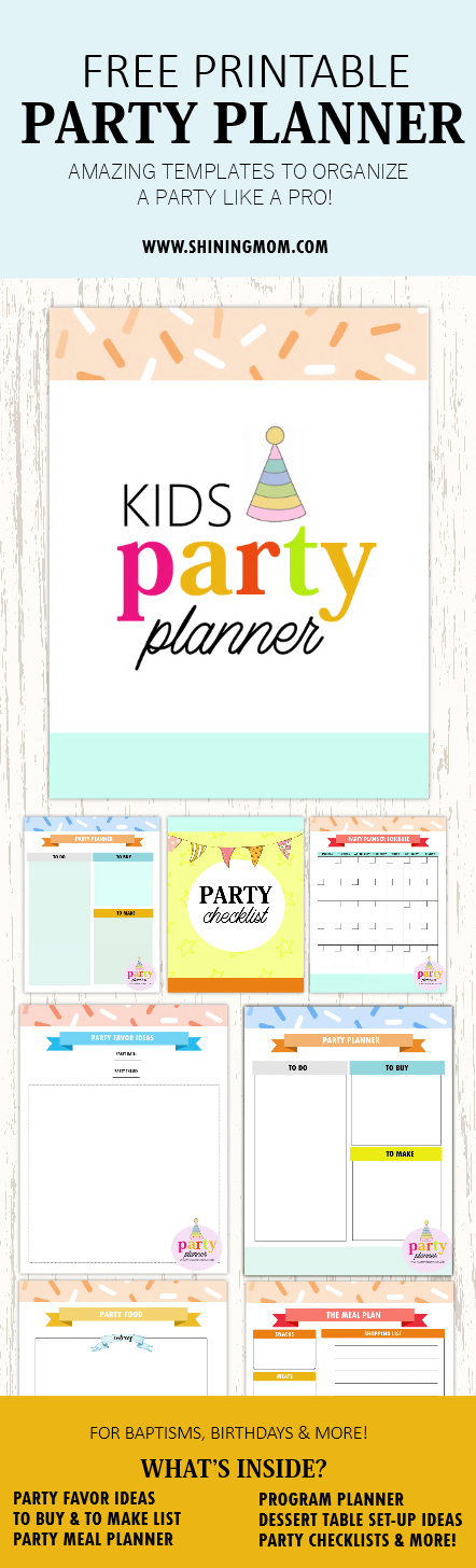 printable party planner templates