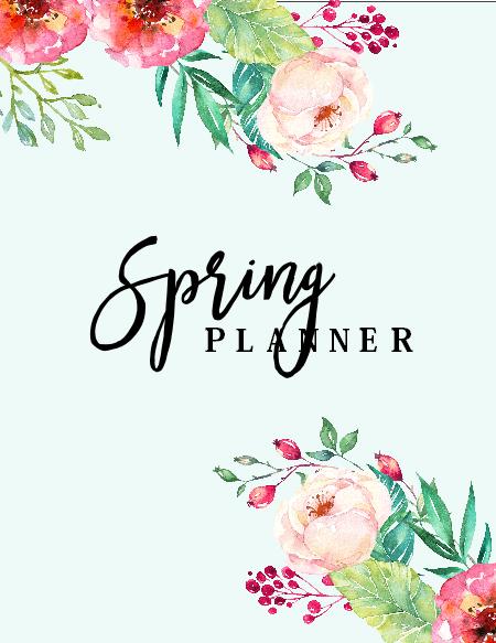 free printable spring planner