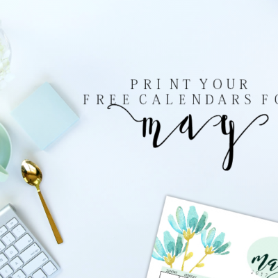 Free Blooming Calendars to Make Your May 2017 Productive!