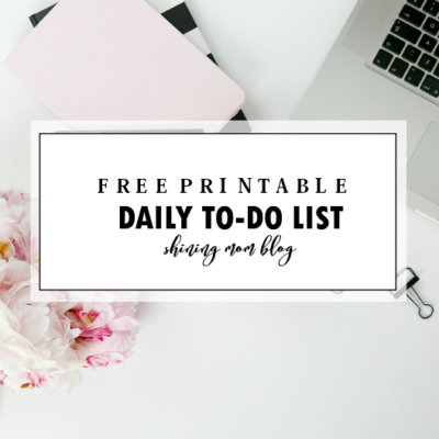 Printable Daily To Do List Template to Get Things Done!