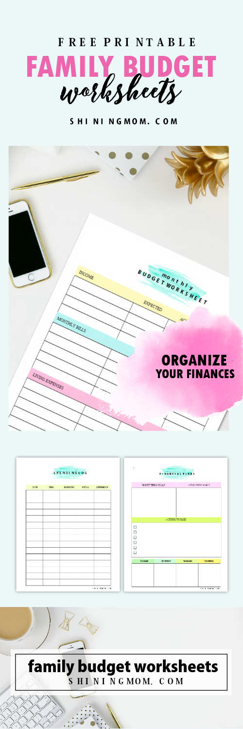 Free family budget worksheets!