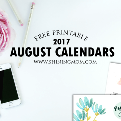 Free Printable August 2017 Calendars: 12 Awesome Designs!
