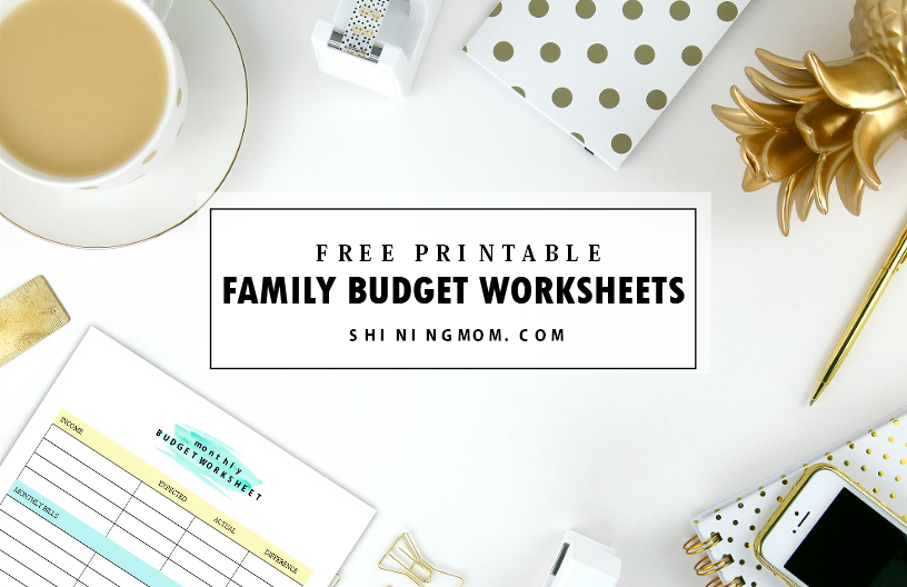 free printable family budget planner