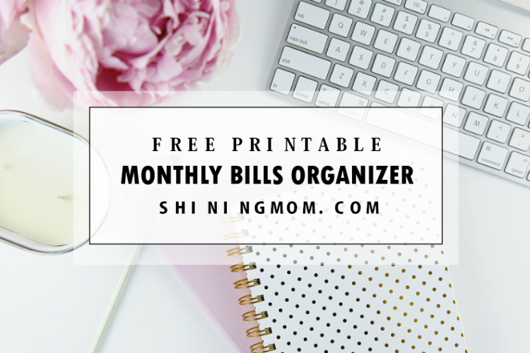 FREE Printable Monthly Bills Organizer