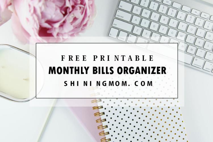 FREE Printable Monthly Bills Organizer