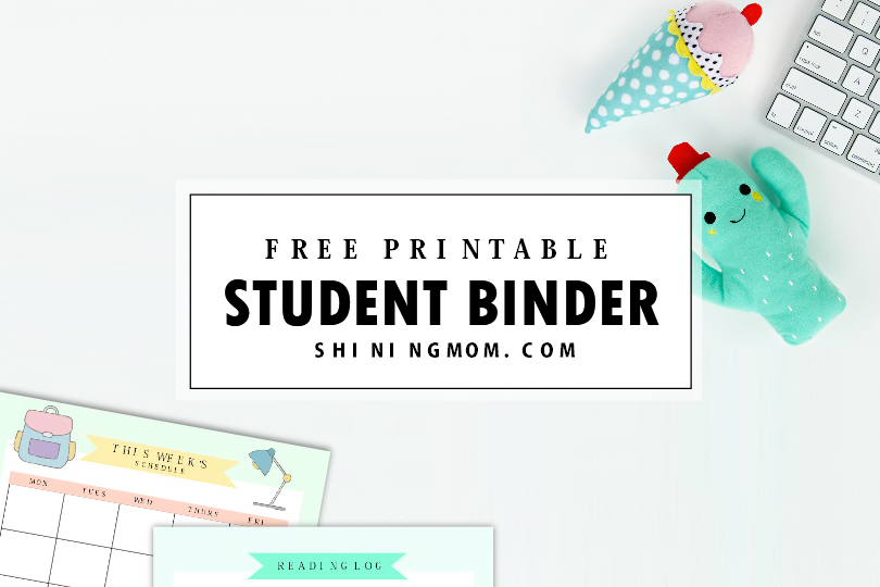 free printable student binder over 25 excellent planning pages