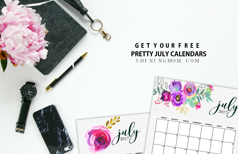 free July 2017 calendar printable