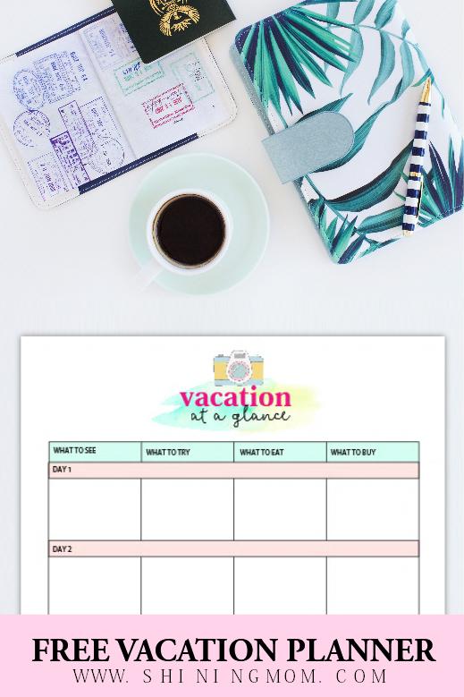 travel journal printable
