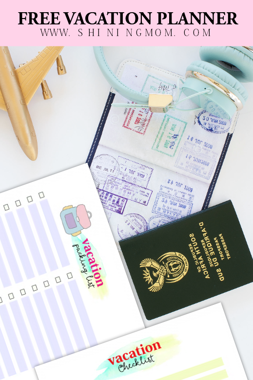 vacation planner printable
