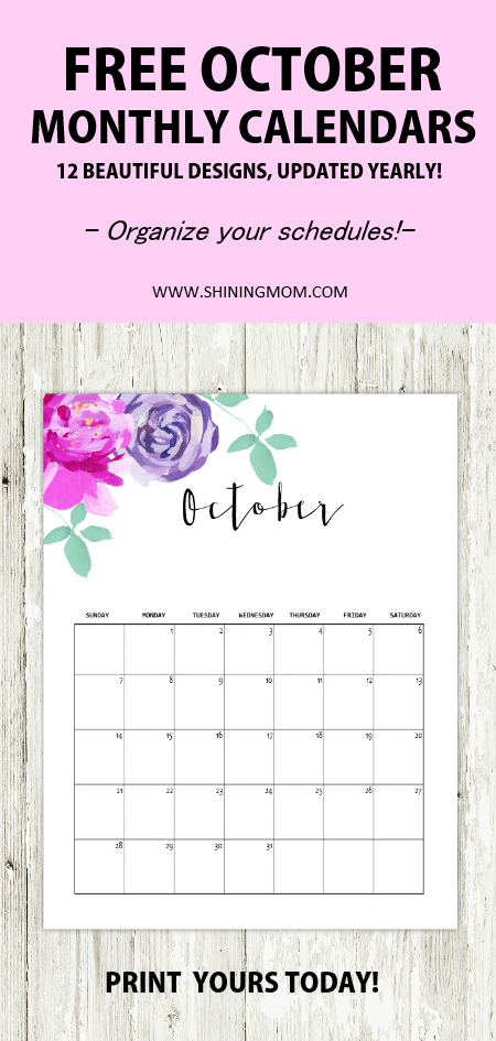 whats nice about this calendar is that its less on ink but the design is not compromised get this october 2018 calendar for your home and office