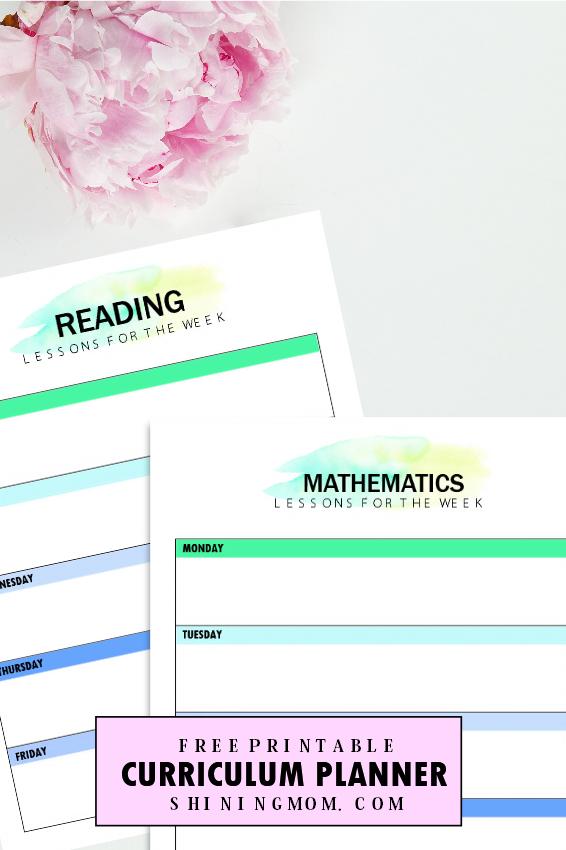 free homeschool curriculum planner