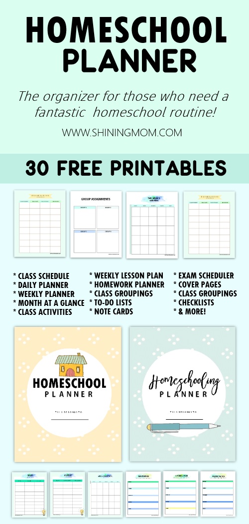 image about Free Printable Homeschool Planner identified as The Best Absolutely free Homeschool Planner: 30+ Unbelievable Printables!