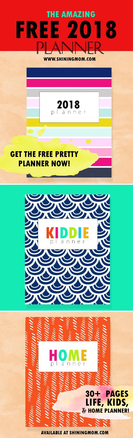 2018 planner free printable