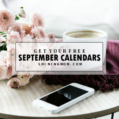 Must Print: FREE Gorgeous September 2017 Calendars!