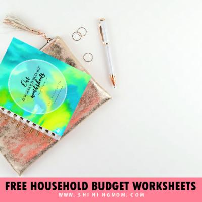 8 Free Printable Household Budget Templates!