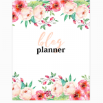 blog and life planner 2020 free printable
