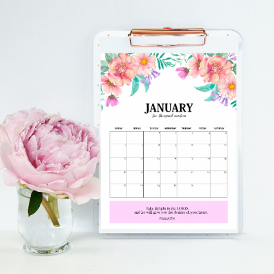 FREE 2019 Calendar Printable with Bible Verses & Scriptures