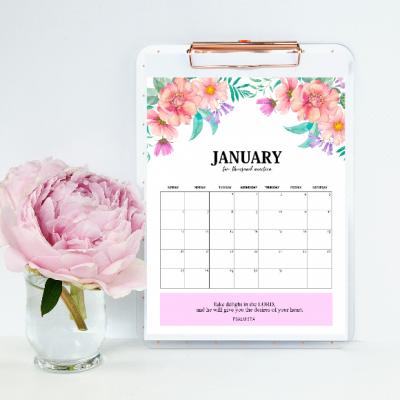 FREE 2019 Calendar Printable with Bible Verses & Scriptures
