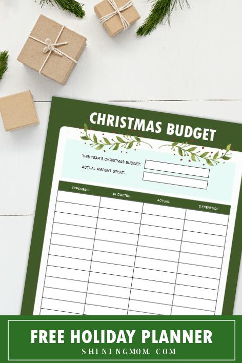 Christmas budget planner printabe
