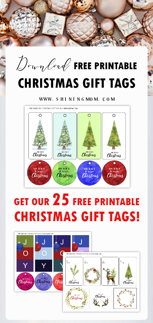 These free printable Christmas tags will make gifting a whole lot easier and more personal! Send your gifts with your Christmas wishes using these 25 Christmas tags that we're giving away! #christmas #christmastags #christmasprintables #gift #christmasgiftideas