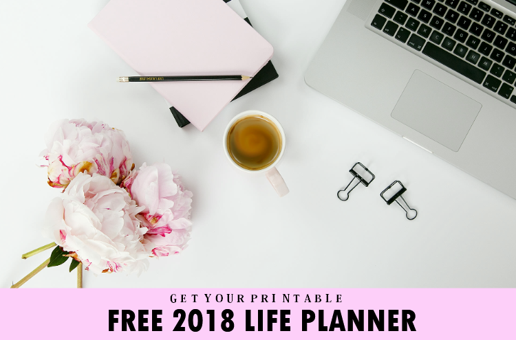 Free Pretty Printable Calendar 2018 with Weekly Planners!
