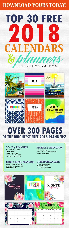 printable 2018 calendar and planner