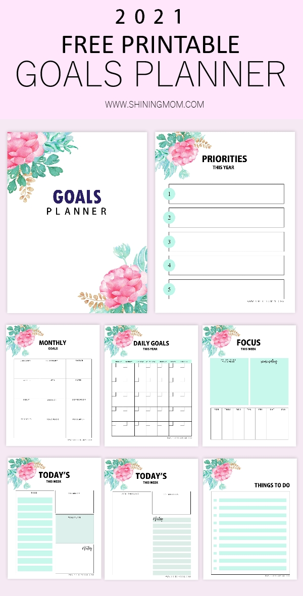 free printable goals planner