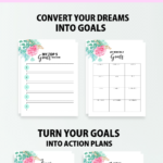 free printable goal setting worksheet 2018